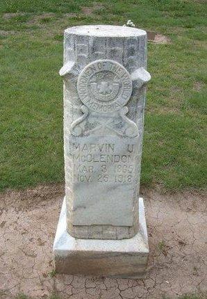 MCCLENDON, MARVIN U - Baca County, Colorado | MARVIN U MCCLENDON - Colorado Gravestone Photos