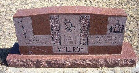 SAYRE MCELROY, FRANCES JOSEPHINE - Baca County, Colorado   FRANCES JOSEPHINE SAYRE MCELROY - Colorado Gravestone Photos