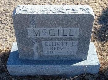 "MCGILL, ELLIOTT L ""RENZIE"" - Baca County, Colorado | ELLIOTT L ""RENZIE"" MCGILL - Colorado Gravestone Photos"
