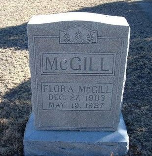 MCGILL, FLORA - Baca County, Colorado   FLORA MCGILL - Colorado Gravestone Photos
