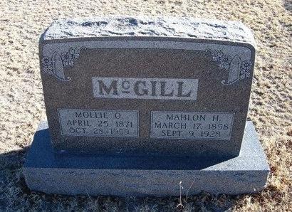 MCGILL, MAHLON HENRY - Baca County, Colorado | MAHLON HENRY MCGILL - Colorado Gravestone Photos
