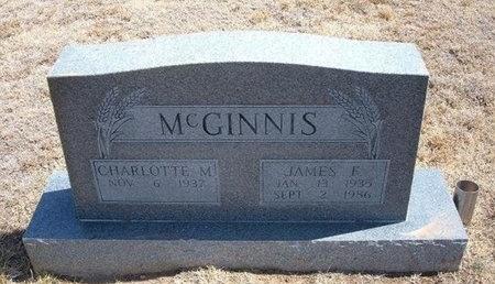 MCGINNIS, JAMES F - Baca County, Colorado | JAMES F MCGINNIS - Colorado Gravestone Photos