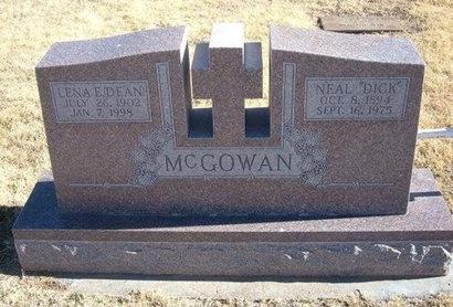 DEAN MCGOWAN, LENA E - Baca County, Colorado   LENA E DEAN MCGOWAN - Colorado Gravestone Photos