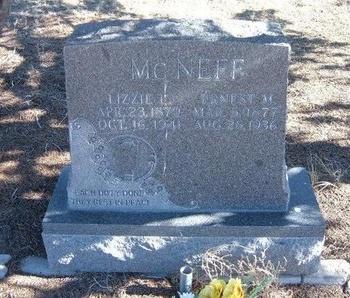 MCNEFF, LIZZIE L - Baca County, Colorado | LIZZIE L MCNEFF - Colorado Gravestone Photos