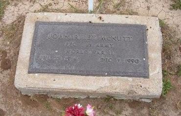MCNUTT (VETERAN WWII), JOHN RILEY - Baca County, Colorado   JOHN RILEY MCNUTT (VETERAN WWII) - Colorado Gravestone Photos