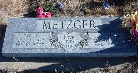 METZGER, JOHN D - Baca County, Colorado | JOHN D METZGER - Colorado Gravestone Photos