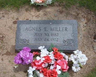 MILLER, AGNES E - Baca County, Colorado | AGNES E MILLER - Colorado Gravestone Photos
