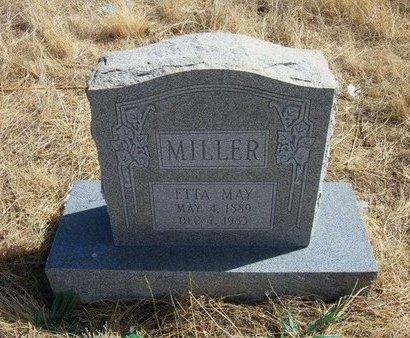 MILLER, ETTA MAY - Baca County, Colorado   ETTA MAY MILLER - Colorado Gravestone Photos