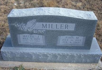 MILLER, MATTIE M - Baca County, Colorado | MATTIE M MILLER - Colorado Gravestone Photos