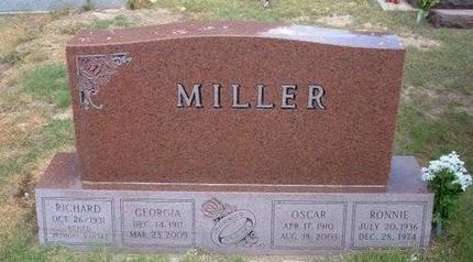 MILLER, GEORGIA ELLA - Baca County, Colorado | GEORGIA ELLA MILLER - Colorado Gravestone Photos