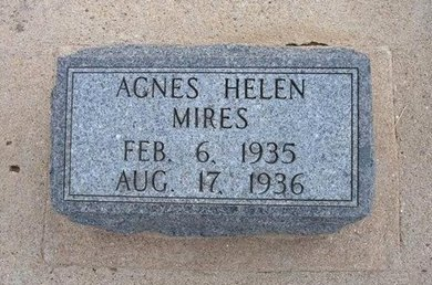 MIRES, AGNES HELEN - Baca County, Colorado | AGNES HELEN MIRES - Colorado Gravestone Photos