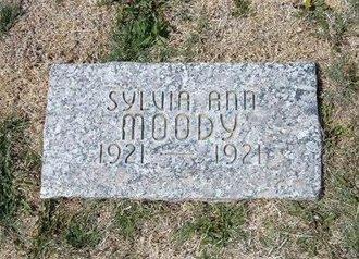 MOODY, SYLVIA ANN - Baca County, Colorado | SYLVIA ANN MOODY - Colorado Gravestone Photos