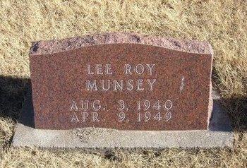 MUNSEY, LEE ROY - Baca County, Colorado   LEE ROY MUNSEY - Colorado Gravestone Photos