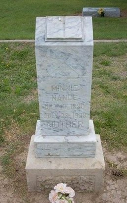 NANCE, MINNIE - Baca County, Colorado | MINNIE NANCE - Colorado Gravestone Photos