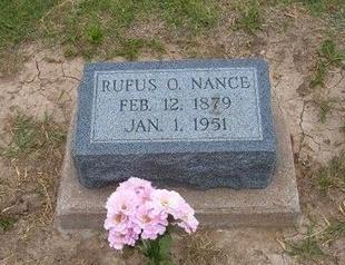NANCE, RUFUS O - Baca County, Colorado | RUFUS O NANCE - Colorado Gravestone Photos