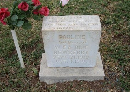 NEWBERRY, PAULINE - Baca County, Colorado   PAULINE NEWBERRY - Colorado Gravestone Photos