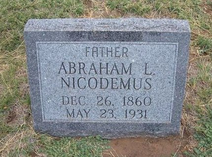 NICODEMUS, ABRAHAM LINCOLN - Baca County, Colorado   ABRAHAM LINCOLN NICODEMUS - Colorado Gravestone Photos