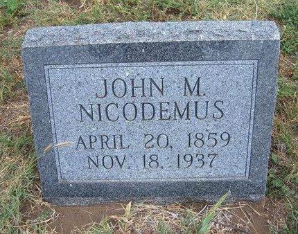NICODEMUS, JOHN M - Baca County, Colorado | JOHN M NICODEMUS - Colorado Gravestone Photos