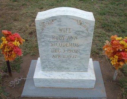NICODEMUS, RUBY ANN - Baca County, Colorado   RUBY ANN NICODEMUS - Colorado Gravestone Photos