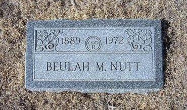 PATTERSON NUTT, BEULAH M - Baca County, Colorado | BEULAH M PATTERSON NUTT - Colorado Gravestone Photos