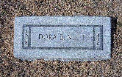 NUTT, DORA E - Baca County, Colorado | DORA E NUTT - Colorado Gravestone Photos
