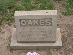 OAKES, CLEMENTINE - Baca County, Colorado | CLEMENTINE OAKES - Colorado Gravestone Photos