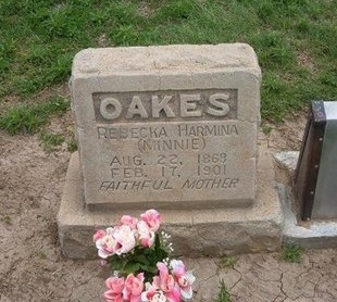 "OAKES, REBECKA HARMINA ""MINNIE"" - Baca County, Colorado | REBECKA HARMINA ""MINNIE"" OAKES - Colorado Gravestone Photos"