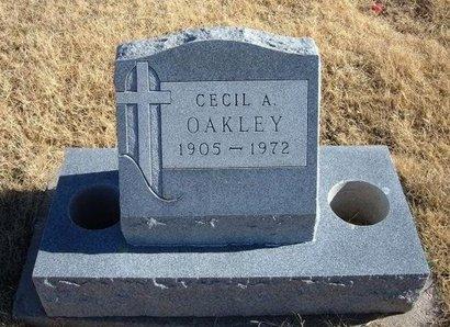 OAKLEY, CECIL A - Baca County, Colorado | CECIL A OAKLEY - Colorado Gravestone Photos