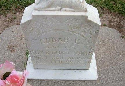 OAKS, EDGAR E - Baca County, Colorado | EDGAR E OAKS - Colorado Gravestone Photos