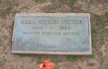 OLIVER, RENA SITTON - Baca County, Colorado   RENA SITTON OLIVER - Colorado Gravestone Photos