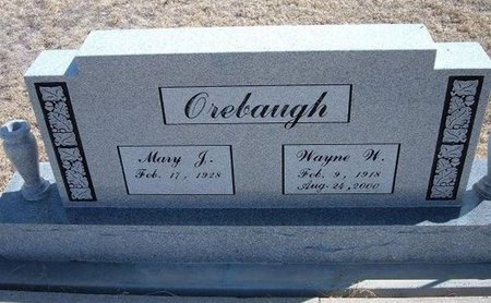 OREBAUGH, WAYNE W - Baca County, Colorado | WAYNE W OREBAUGH - Colorado Gravestone Photos