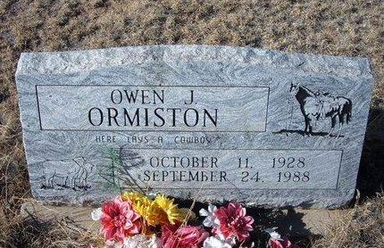 ORMISTON, OWEN J - Baca County, Colorado | OWEN J ORMISTON - Colorado Gravestone Photos