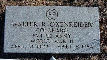 OXENREIDER (VETERAN WWII), WALTER RICHARD - Baca County, Colorado | WALTER RICHARD OXENREIDER (VETERAN WWII) - Colorado Gravestone Photos