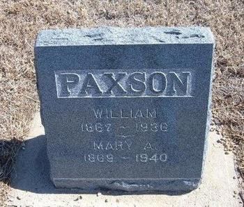 PAXSON, WILLIAM - Baca County, Colorado | WILLIAM PAXSON - Colorado Gravestone Photos