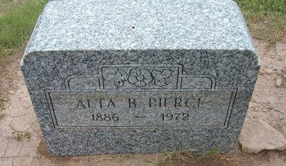 PIERCE, ALTA B - Baca County, Colorado | ALTA B PIERCE - Colorado Gravestone Photos