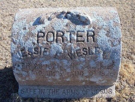PORTER, JESSIE EUGENE - Baca County, Colorado   JESSIE EUGENE PORTER - Colorado Gravestone Photos