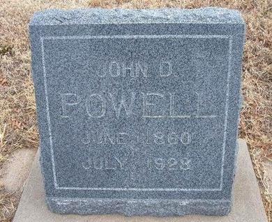 POWELL, JOHN D - Baca County, Colorado | JOHN D POWELL - Colorado Gravestone Photos