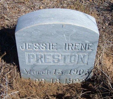 PRESTON, JESSIE IRENE - Baca County, Colorado   JESSIE IRENE PRESTON - Colorado Gravestone Photos
