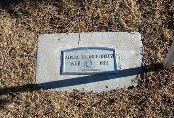 PEOPLES (VETERAN), ALBERT LEROY - Baca County, Colorado | ALBERT LEROY PEOPLES (VETERAN) - Colorado Gravestone Photos