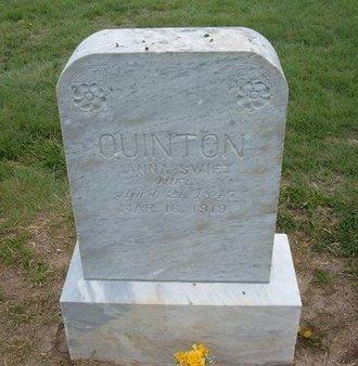 SWIFT QUINTON, ANNA WORTHINGTON - Baca County, Colorado | ANNA WORTHINGTON SWIFT QUINTON - Colorado Gravestone Photos