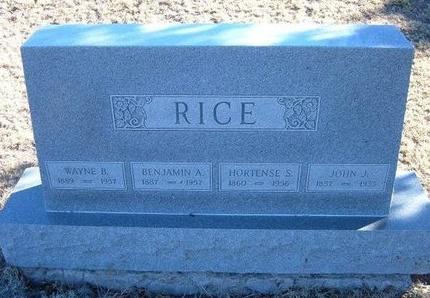 RICE, HORTENSE S - Baca County, Colorado | HORTENSE S RICE - Colorado Gravestone Photos