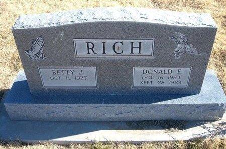 RICH, DONALD E - Baca County, Colorado | DONALD E RICH - Colorado Gravestone Photos