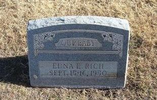 RICH, EDNA E - Baca County, Colorado   EDNA E RICH - Colorado Gravestone Photos