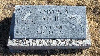 RICH, VIVIAN M - Baca County, Colorado | VIVIAN M RICH - Colorado Gravestone Photos