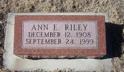 RILEY, ANN ELIZABETH - Baca County, Colorado | ANN ELIZABETH RILEY - Colorado Gravestone Photos