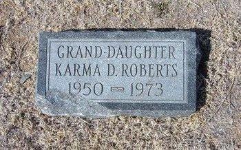 ROBERTS, KARMA D - Baca County, Colorado   KARMA D ROBERTS - Colorado Gravestone Photos