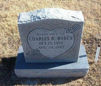 ROREX, CHARLES B - Baca County, Colorado   CHARLES B ROREX - Colorado Gravestone Photos