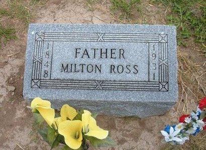 ROSS, MILTON - Baca County, Colorado   MILTON ROSS - Colorado Gravestone Photos