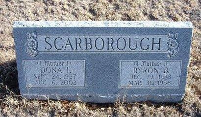 SCARBOROUGH, BYRON B - Baca County, Colorado | BYRON B SCARBOROUGH - Colorado Gravestone Photos