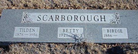 SCARBOROUGH, TILDEN - Baca County, Colorado   TILDEN SCARBOROUGH - Colorado Gravestone Photos